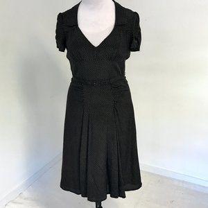 VTG Nanette Lepore 10 Silk Polka Dot Print Dress